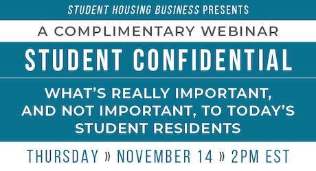 Student housing webinar